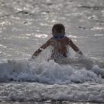 nicht nur die Hunde genießen die Wellen