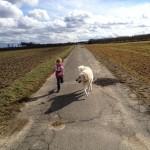Spaziergang mit Lea und Gyöngyi und Janos.....