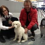 Abschied von Züchterpapa Björn Olav Andersen am Flughafen in Oslo...