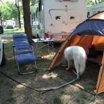 ...und campen im Zelt....